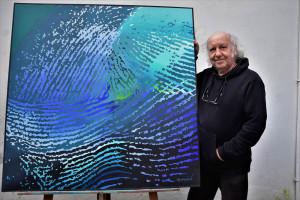 Le peintre,Patrick Marziale dans son atelier