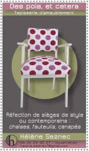 affiche : réfection de siège de style