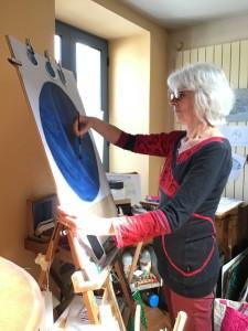 Christine dans son Atelier